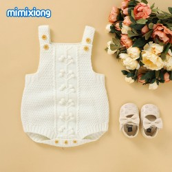Mimixiong Baby Knitted Sleeveless Romper 82W825