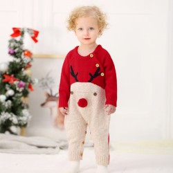 Mimixiong Baby Knitted Christmas Romper 82W296