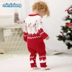 Mimixiong Baby Knitted Christmas Romper 82W301
