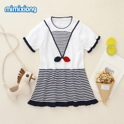 Mimixiong 100% Cotton Baby Knitted Girl Dress 82W380