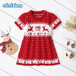 Mimixiong Baby Knitted Girl Dress 82W468
