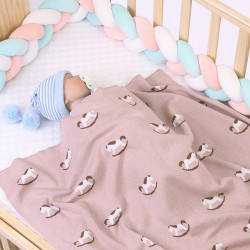 Mimixiong 100% Cotton Baby Knitted Blankets 82W542
