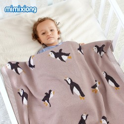 Mimixiong 100% Cotton Baby Knitted Blankets 82W576