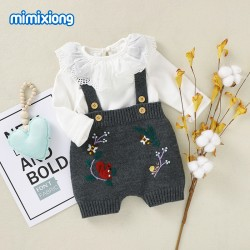 Baby Knitted Sleeveless Romper 82W726