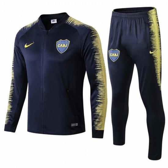Boca Juniors Blue Stripe Training  Soccer Tracksuit 2018/19