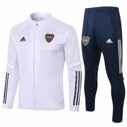 Adidas Boca Juniors White Presentation Soccer Tracksuit 2020