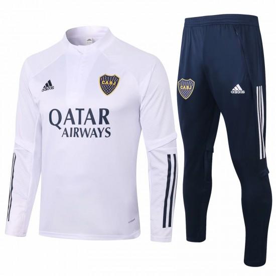 Adidas Boca Juniors White Training  Soccer Tracksuit 2020
