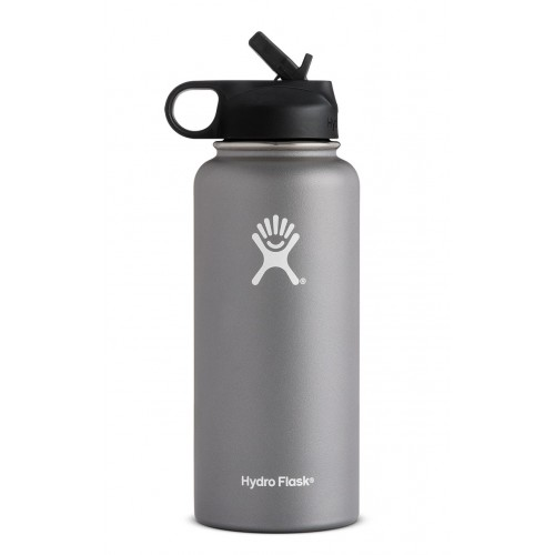 32 oz Hydro Flask Wide Mouth w/ Straw Lid Graphite