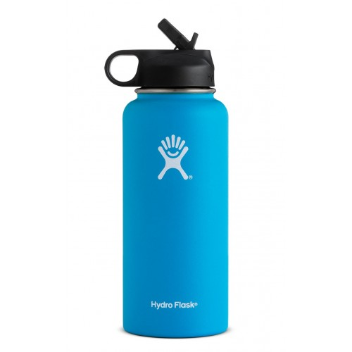 32 oz Hydro Flask Wide Mouth w/ Straw Lid Pacific