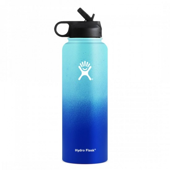 40 oz Wide Mouth Hydro Flask PNW Collection Bluesky