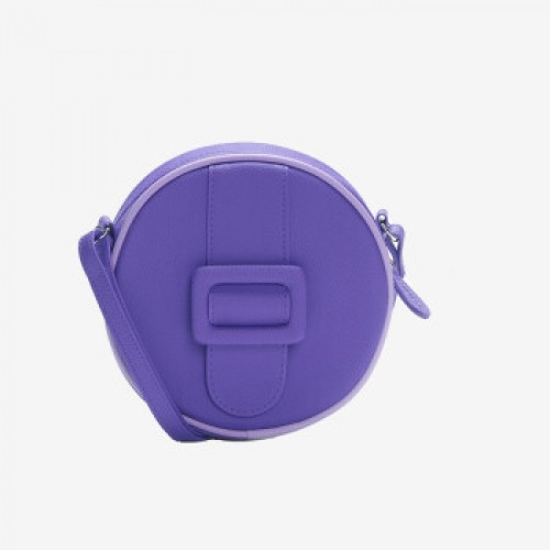 Merimies Candy Color Mini Round Bag Purple Bag