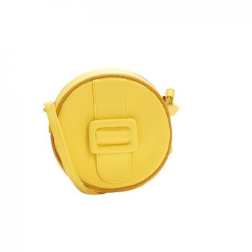 Merimies Candy Color Mini Round Bag Yellow Bag