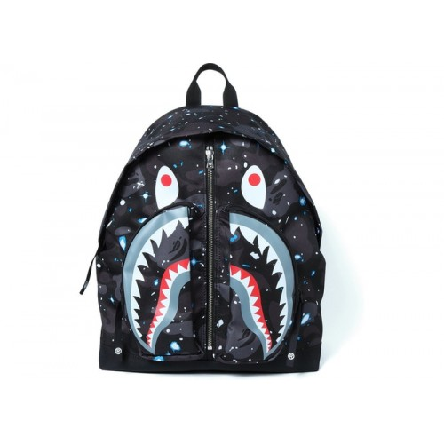 BAPE 1st Camo Shark Day Pack Black