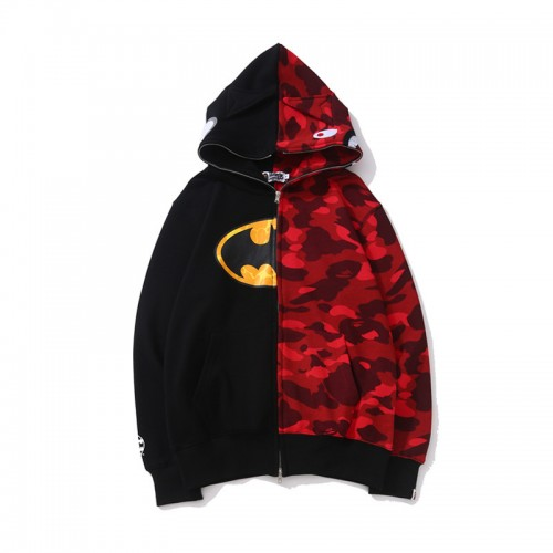 Bape Shark Hoodie Half Camo Men Women
