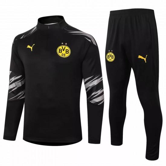 BVB Borussia Dortmund Training Technical Soccer Tracksuit 2020 Black