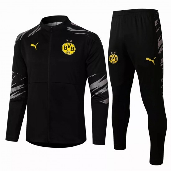 BVB Borussia Dortmund Presentation Soccer Tracksuit Black 2020 2021