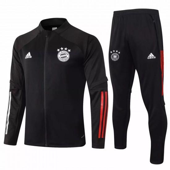Bayern Munich Training Presentation Soccer Tracksuit 2020 Black