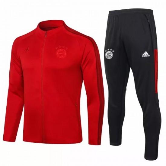 Bayern Munich Training Presentation Soccer Tracksuit 2020 Red