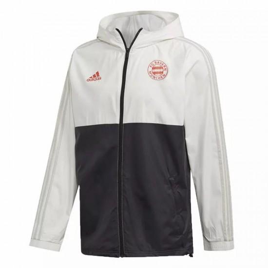Bayern Munich All Weather Windrunner Jacket White Black 2020 2021