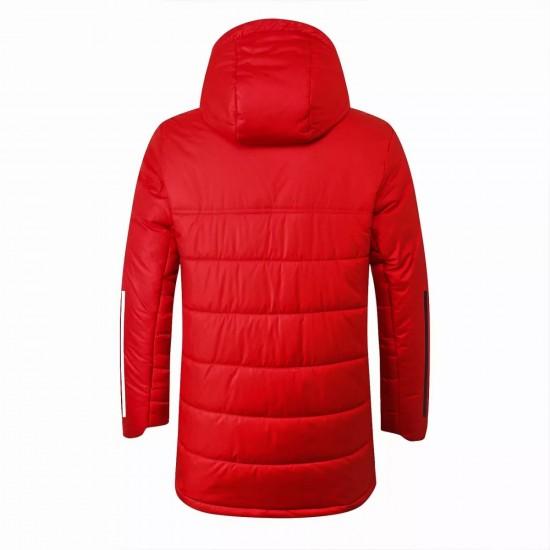 Bayern Munich Red Winter Football Jacket 2021