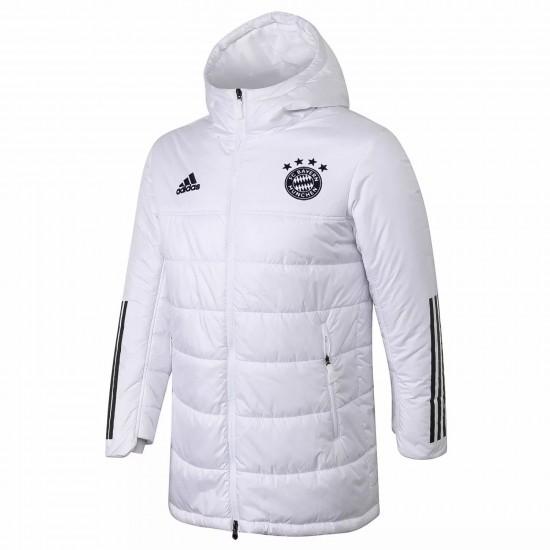 Bayern Munich Winter Jacket White 2020 2021