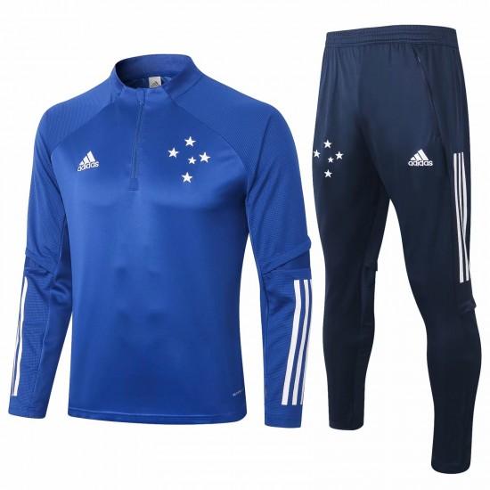 Adidas Cruzeiro Blue Soccer Training Technical Tracksuit 2020