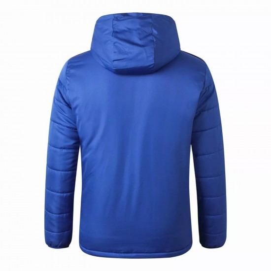 Flamengo All Weather Windrunner Football Jacket Blue 2021