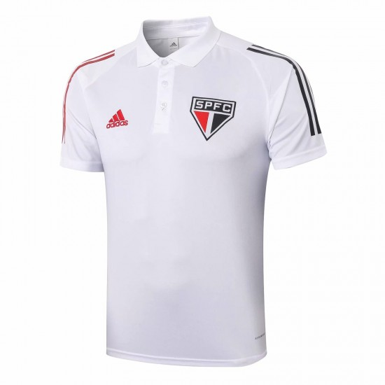Adidas São Paulo White Polo Shirt 2020