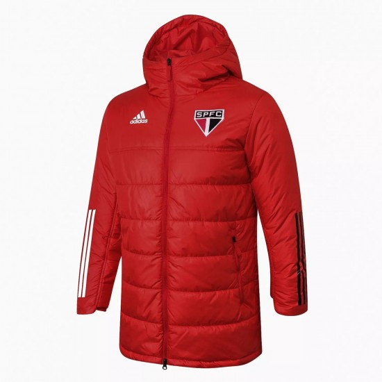 Adidas Sao Paulo Red Winter Jacket 2020 2021
