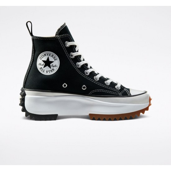 Converse Black Concrete Heat Run Star Hike Unisex High Top Shoe