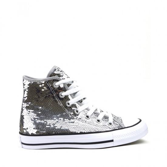 Chuck Taylor All Star Hi-Top Silver Converse Shoes