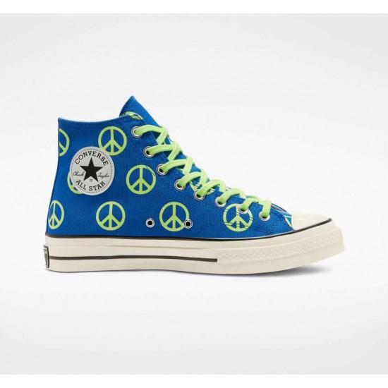 Converse Blue Unleash Peace Chuck 70 Unisex High Top Shoe