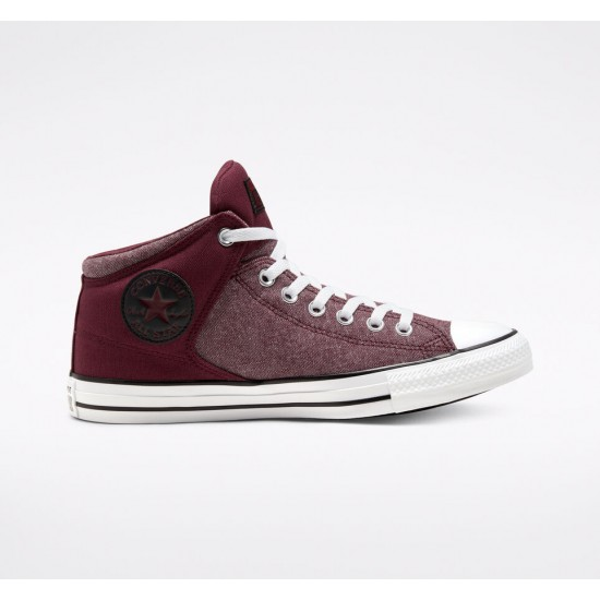 Converse Red Washed Ashore Chuck Taylor All Star High Street Unisex High Top Shoe