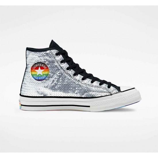 Converse Silvery Pride Chuck 70 Unisex High Top Shoe
