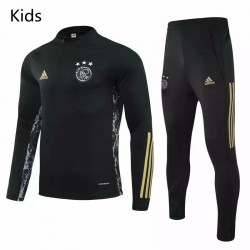 Ajax Training Sweat Soccer Tracksuit Black Kids 2020 2021
