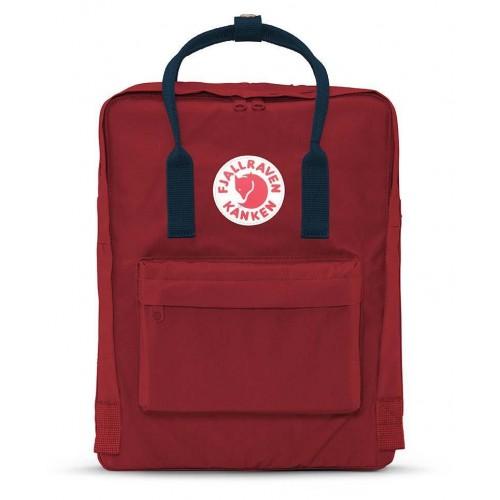 Fjallraven kanken Ox Red-Royal Blue backpack