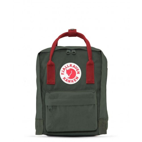 Kanken Mini Forest Green-Ox Red