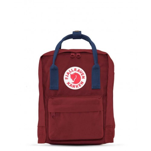 Kanken Mini Ox Red-Royal Blue