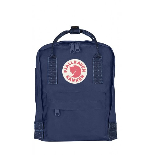 Kanken Mini Royal Blue-Pinstripe Pattern