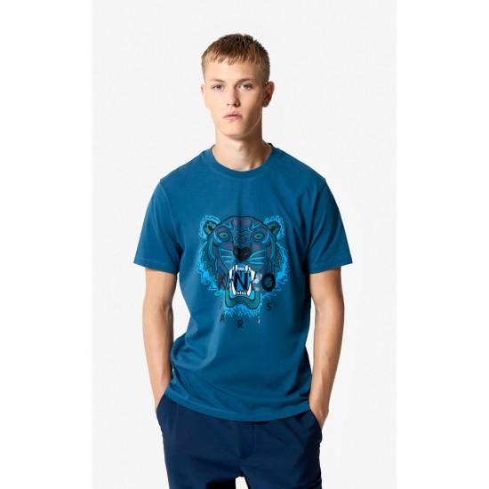 Kenzo Blue Tiger T Shirt