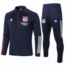 Olympique Lyonnais Presentation Soccer Tracksuit Navy 2020 2021