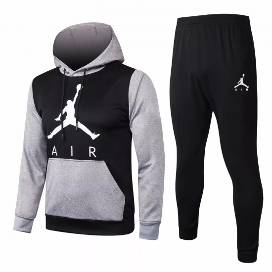 Jordan Black Casual fleece Presentation Suit 2020