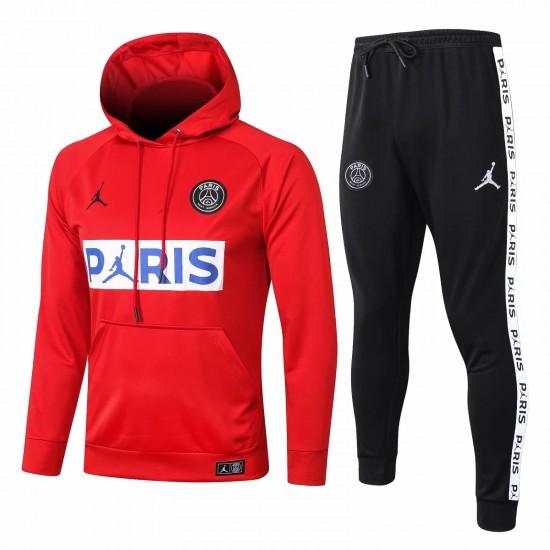 Jordan X PSG Red Soccer Presentation Tracksuit 2020