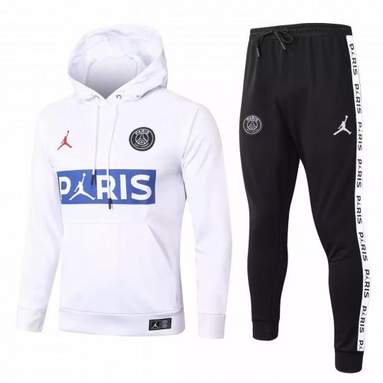 Jordan X PSG White Soccer Presentation Tracksuit 2020