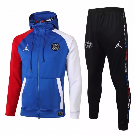 Jordan X Psg Soccer Casual Fleece Presentation Tracksuit 2020 Blue