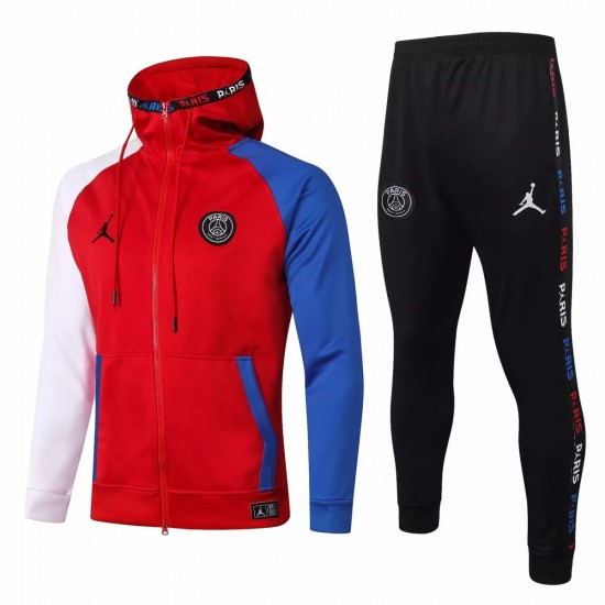 Jordan X Psg Soccer Casual Fleece Presentation Tracksuit 2020 Red