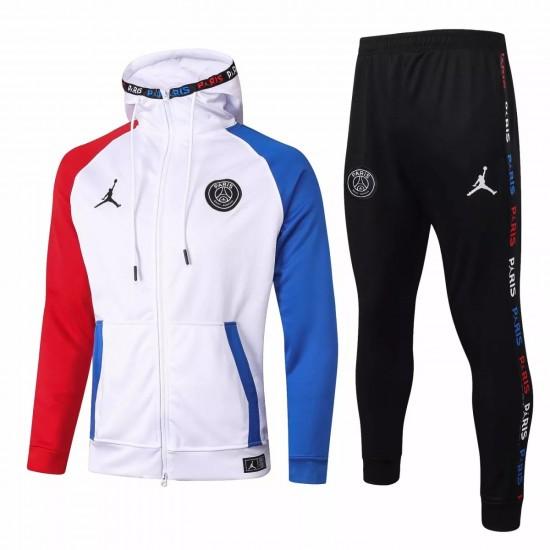 Jordan X Psg Soccer Casual Fleece Presentation Tracksuit 2020 White