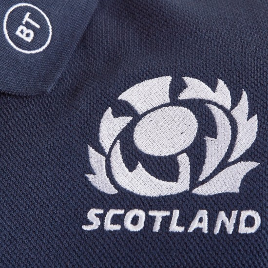 Macron Scotland 2019 2020 Travel Rugby Polo Shirt