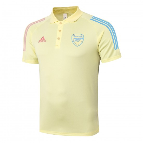 Arsenal Adult 2020 Yellow Polo Shirt