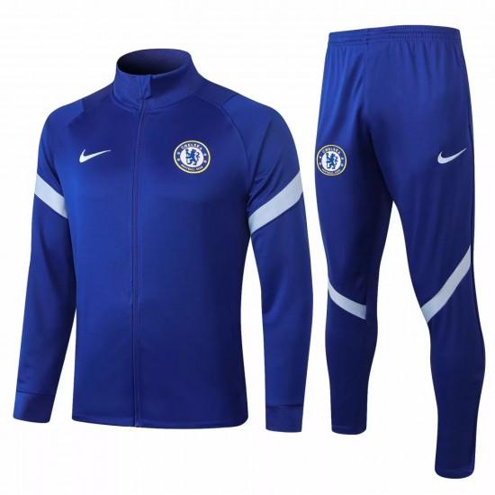 Chelsea Presentation Soccer Tracksuit 2020 Royal Blue